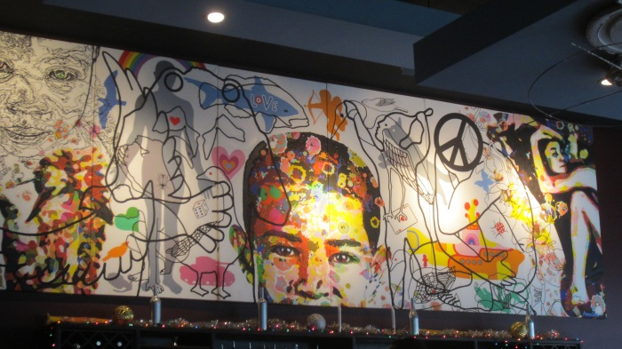 "wall mural at ""Busboys and Poets"""