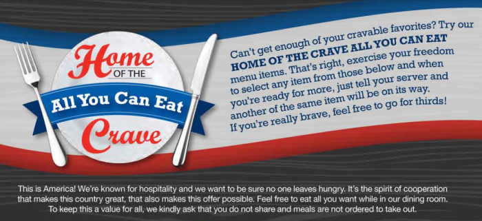 all you can eat crave